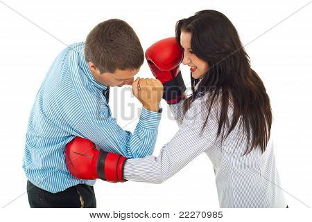 Fight Business People