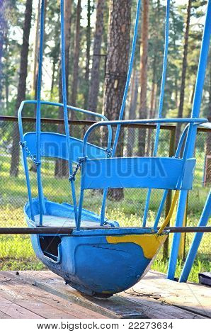 Abandoned swing boat
