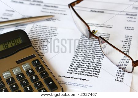 Checking Credit Card Statement