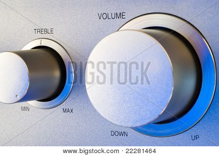 Volume And Treble Control Knobs