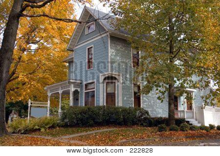 Azul casa vitoriana