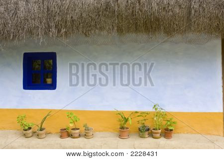 Wall Of Traditional House