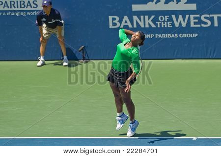 Serena Williams, USA, plays in final game at the Bank of the West Classic