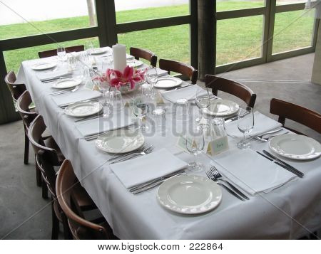 Guest Table Arrangement
