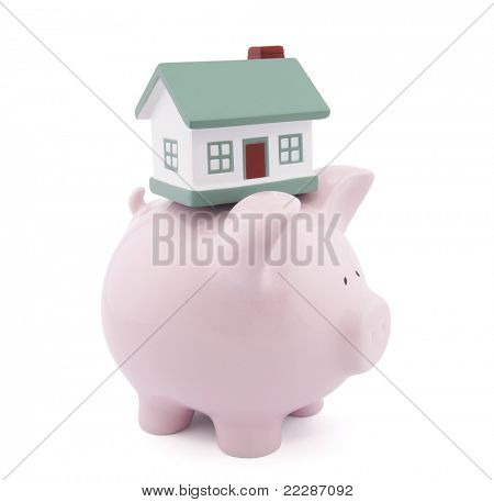 Home finances. Clipping path included