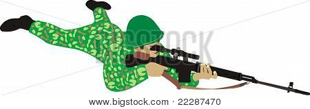 The soldier with a rifle