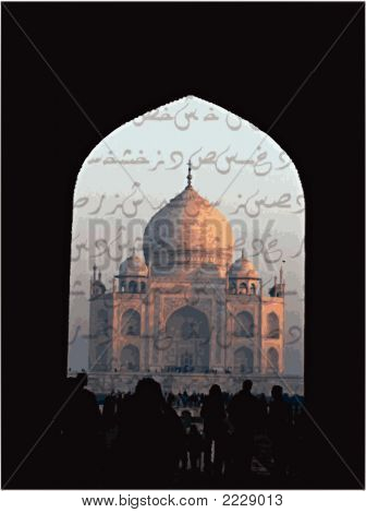 Taj Mahal In Poetry (Vector)