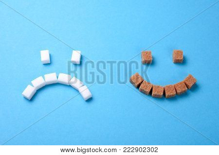 poster of Brown sugar is more useful than white. The face of white sugar is sad, the face of brown sugar smiles. Cane sugar