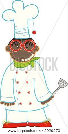 Nerdy Kid-Chef (Vector)