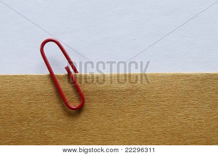Clip On Brown Paper