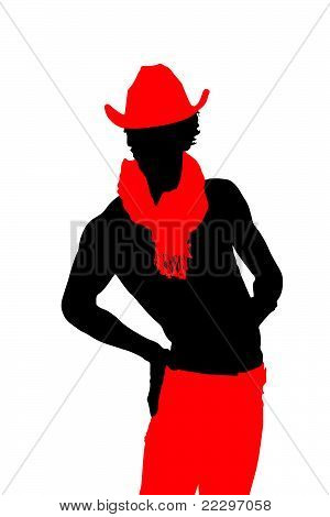 young man in a red hat (vector)
