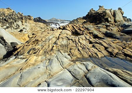 weathered tafoni rocks
