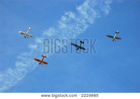Squadron Of Antique Aircraft