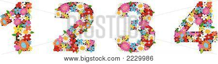 Alphabete Frühlingsblumen (Vector)
