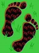 stock photo of carbon-footprint  - Carbon footprint - JPG