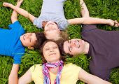 picture of have sweet dreams  - cute young family having fun in the nature - JPG