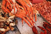 stock photo of norway lobster  - Crabs at famous fish market  - JPG