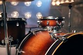 Drum-kit, drum-set, percussion instrument, nobody poster