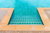 Edge Of Clean Blue Swimming Pool poster