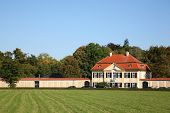 stock photo of munich residence  - mansion wonderful mansion on a background trees day - JPG
