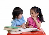 picture of girl reading book  - Going to school is your future - JPG