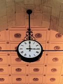 Antique Clock In Train Station