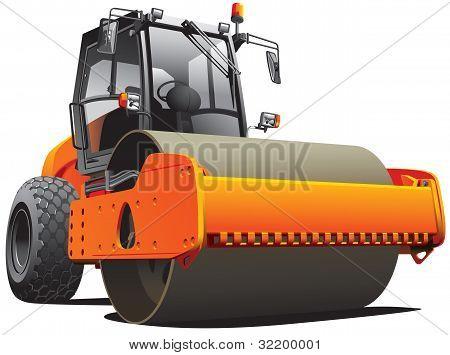 Rolo de estrada laranja