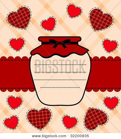 Vector illustration silhouette tins for preserved food in decorative background