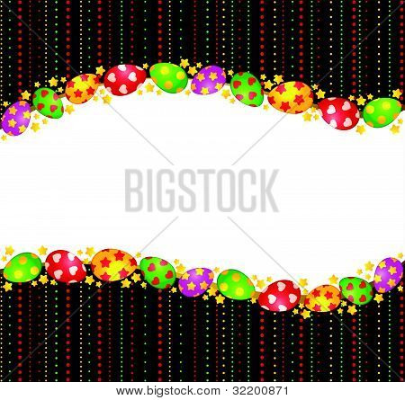 Eggs with lace ornament on the background of the vector