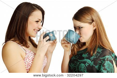 Friends Drinking Tea