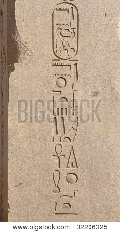Hieroglyphics At Precinct Of Amun-re