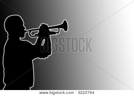 Glowing Trumpet Player
