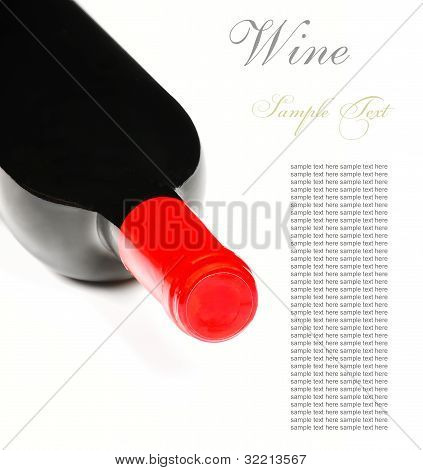Bottle Of Wine Isolated On White Background