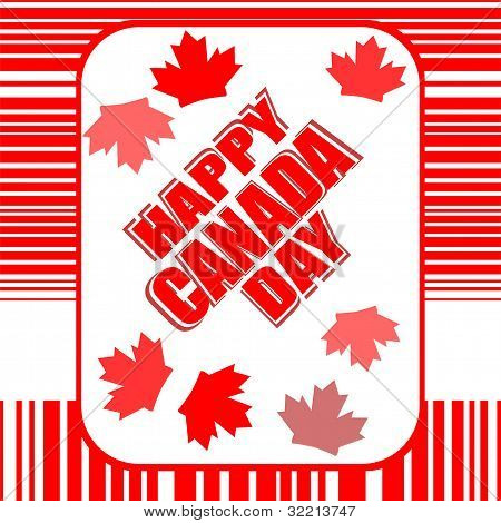 Happy Canada Day Card In Vector