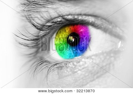 Spectrum Multicolored Eye Macro