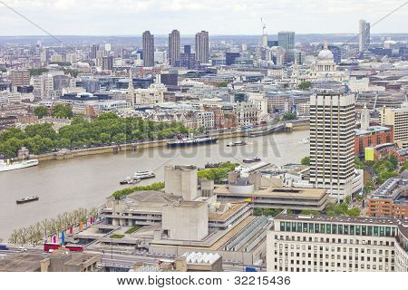 Aerial View Of London And The Thames River