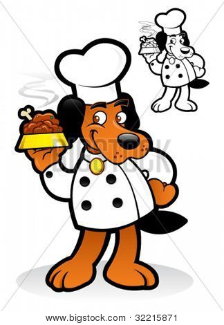 Chef / Cooker Dog Character