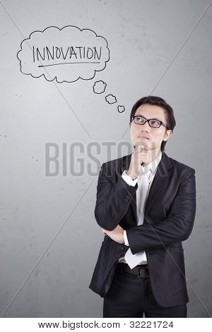 Businessman Thinking About Innovation