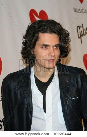 LOS ANGELES, CA - FEB 9: John Mayer at the 2007 MusiCares Person Of The Year at the LA Convention Center on February 9, 2007 in Los Angeles, California