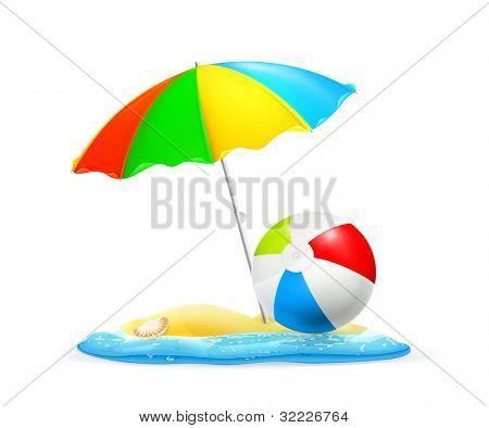 Beach, vector