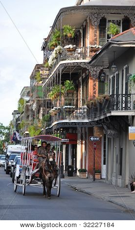 Touring the French Quarter