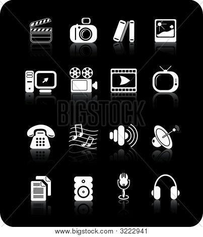 Sonstige Multimedia-Vektor-Icons