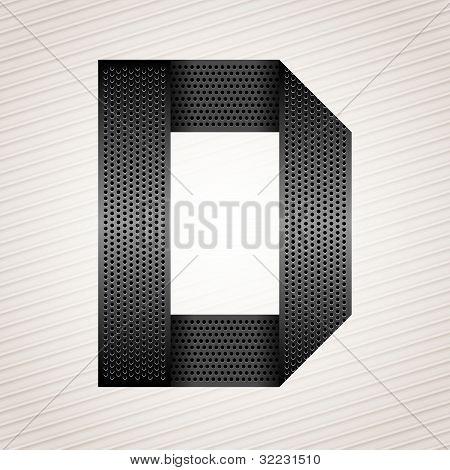 Letter metal ribbon - D