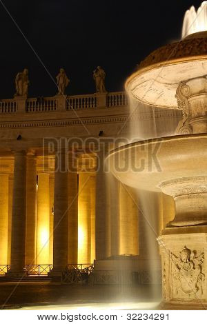 Fountain at the Vatican Square.