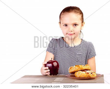 Kid Grabs Apple