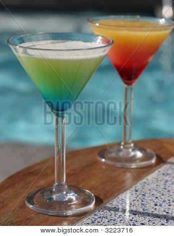 Custom Cocktails In Martini Glasses