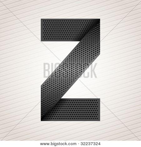 Letter metal ribbon - Z