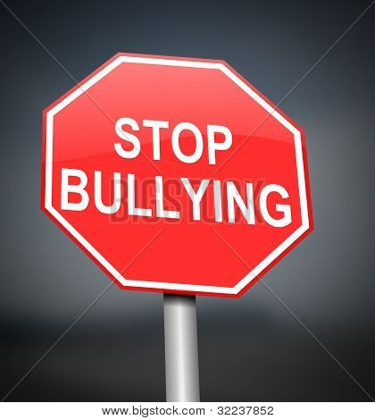 Stop Bullying Sign.