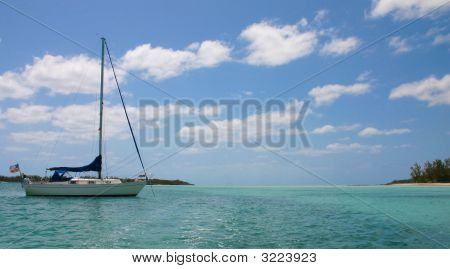 Sailboat On Tropical Waters