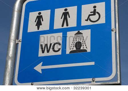 Sign For Public Toilets